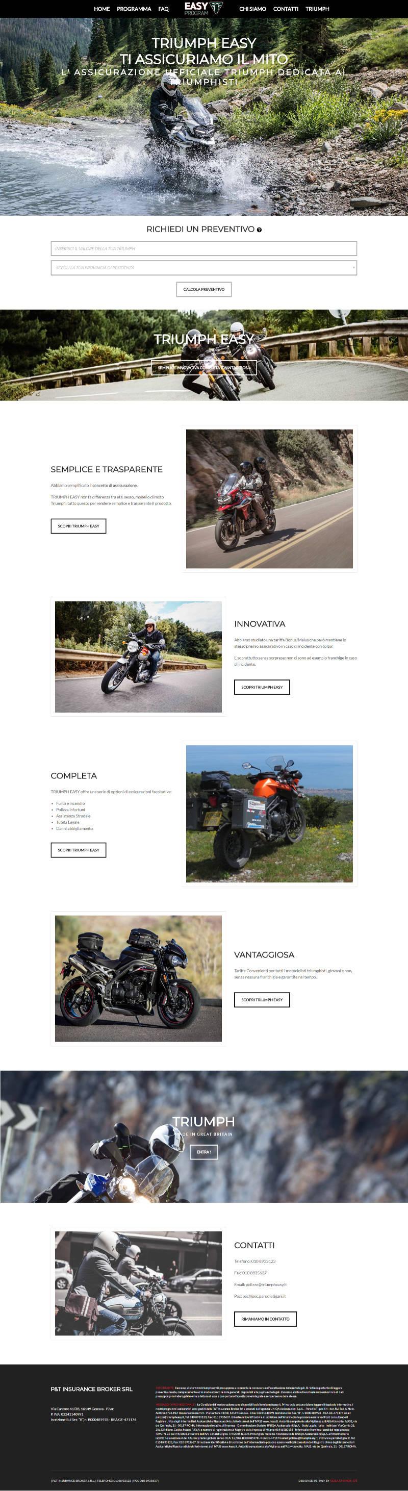 Triumph Easy Assicurazione Ufficiale Triumph!
